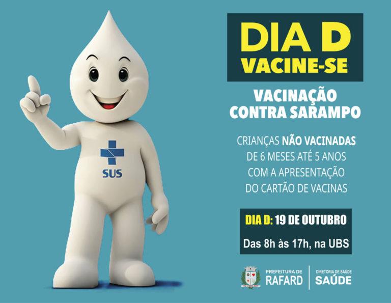 Dia D da vacinação de Sarampo é neste sábado