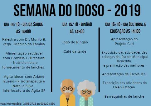 Comemoração da Semana do Idoso começa na próxima segunda-feira