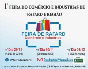 Rafard recebe 1ª Feira do Comércio e Indústrias na próxima semana