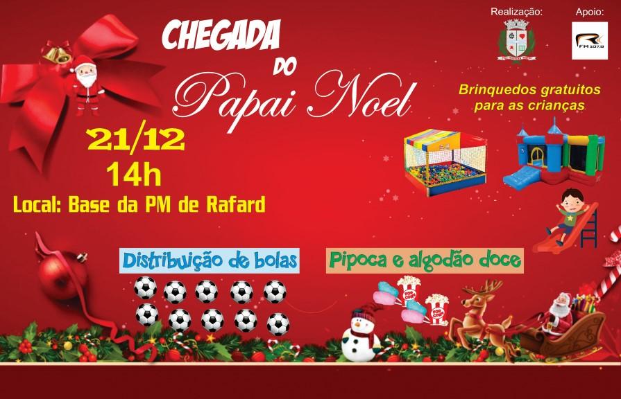 Show de Natal em Rafard acontece neste sábado