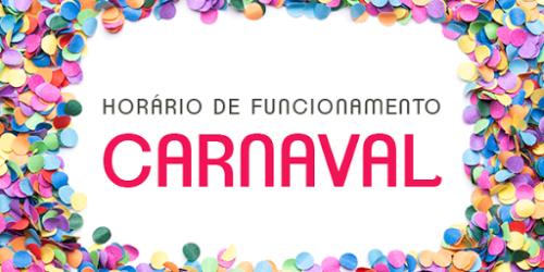 Horários dos serviços no período de carnaval