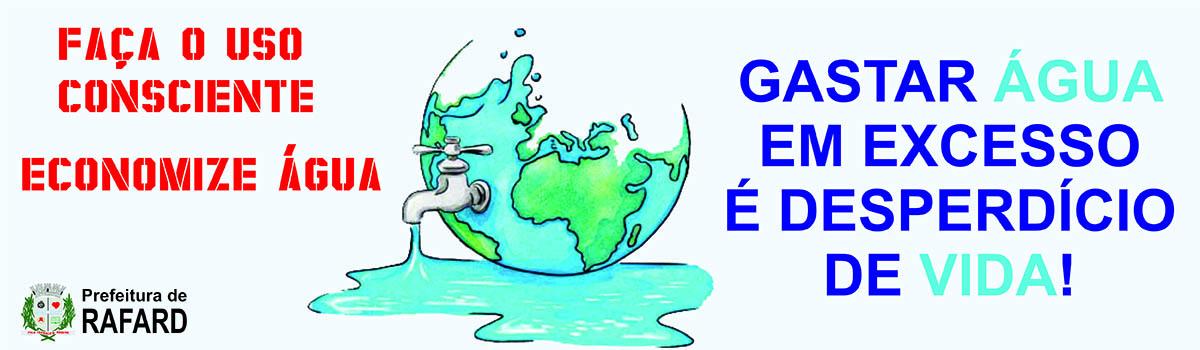 Rafard lança campanha para conscientização no consumo de água