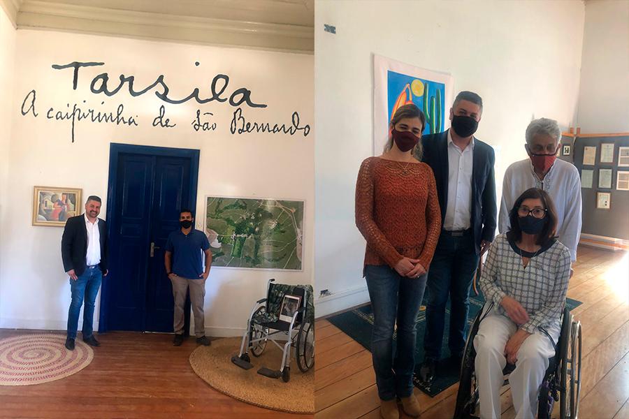 You are currently viewing Inauguração Sala Tarsila do Amaral, acessibilidade e Visita da Secretária de Estado dos Direitos da Pessoa com Deficiência Celia Leão